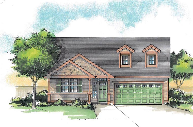 Cottage Country Ranch Traditional House Plan 44629 Elevation