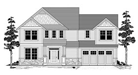 Traditional , Craftsman , Country House Plan 44631 with 3 Beds, 3 Baths, 2 Car Garage Elevation