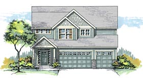 Colonial Craftsman Traditional House Plan 44633 Elevation