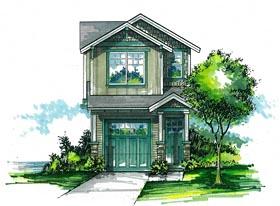 Cottage Craftsman House Plan 44636 Elevation