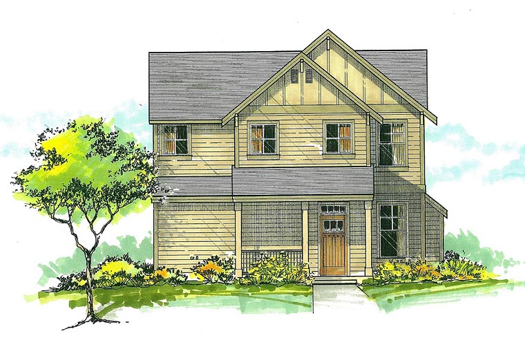 Country Craftsman House Plan 44638 Elevation