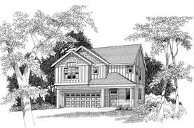 Craftsman Traditional House Plan 44649 Elevation