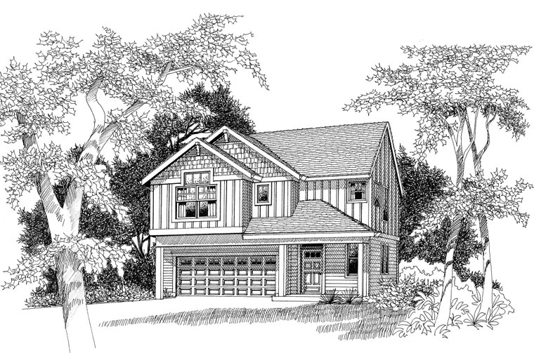 Craftsman Traditional House Plan 44649 Elevation