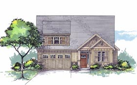 Cottage Country Craftsman Southern Traditional House Plan 44650 Elevation