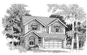 Country Craftsman European House Plan 44653 Elevation