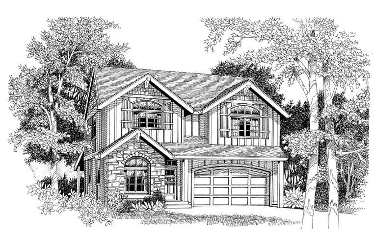 Country Craftsman European House Plan 44653 Elevation