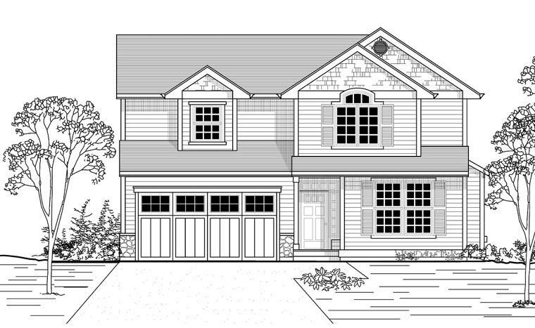 Country Traditional House Plan 44655 Elevation