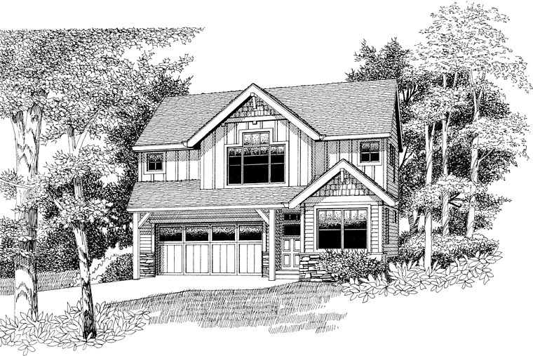 Craftsman Traditional House Plan 44656 Elevation