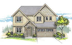 Country Craftsman Traditional House Plan 44658 Elevation