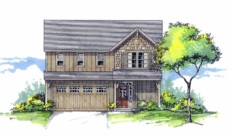 Cottage Country Craftsman Traditional House Plan 44660 Elevation