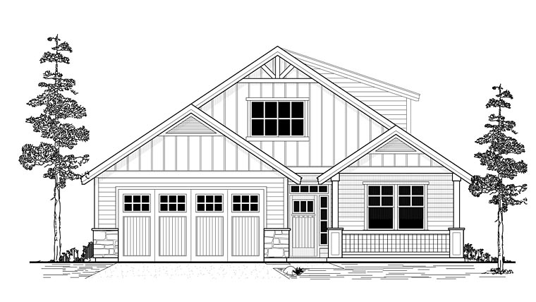 Craftsman Southern Traditional House Plan 44663 Elevation
