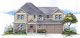 Craftsman European Traditional House Plan 44666 Elevation