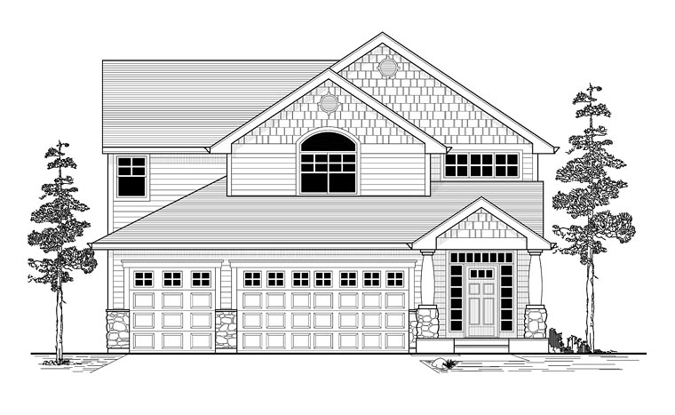 Craftsman Traditional House Plan 44669 Elevation