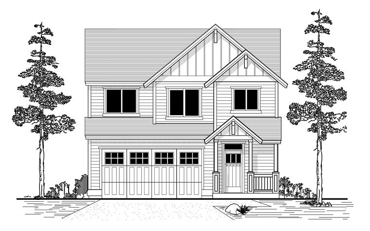 Traditional House Plan 44670 Elevation