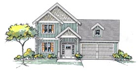 Cottage Craftsman Traditional House Plan 44674 Elevation