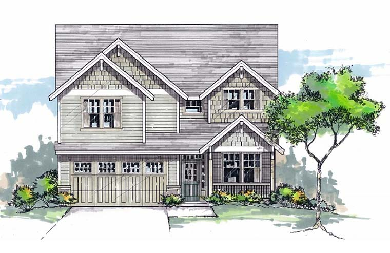 Country Craftsman Southern Traditional House Plan 44678 Elevation