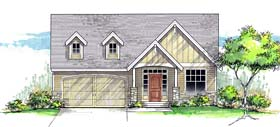 Cottage Country Craftsman Ranch Southern House Plan 44679 Elevation