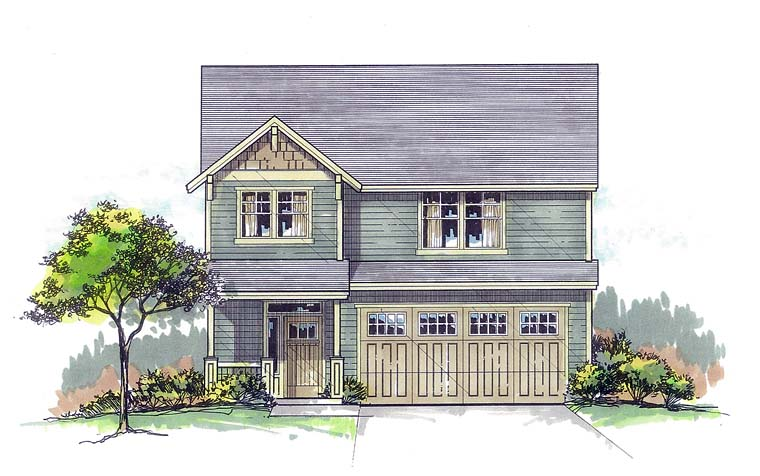 Traditional , Southern , Farmhouse , Craftsman , Country House Plan 44683 with 3 Beds, 3 Baths, 2 Car Garage Elevation
