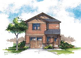Country Craftsman Farmhouse Southern Traditional House Plan 44685 Elevation
