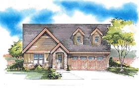 Ranch , Southern , Traditional House Plan 44691 with 3 Beds, 2 Baths, 2 Car Garage Elevation