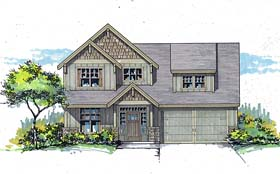 Country Craftsman Traditional House Plan 44692 Elevation