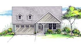 Cottage Country Craftsman Southern Traditional House Plan 44693 Elevation