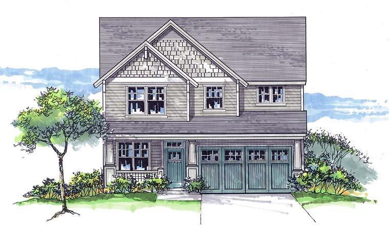 Country Farmhouse Southern Traditional House Plan 44694 Elevation