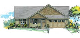 Traditional , Ranch , Country House Plan 44695 with 3 Beds, 2 Baths, 2 Car Garage Elevation