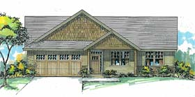 Country Craftsman Ranch Traditional House Plan 44696 Elevation