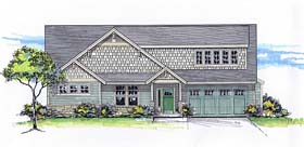 Country Craftsman Traditional House Plan 44698 Elevation