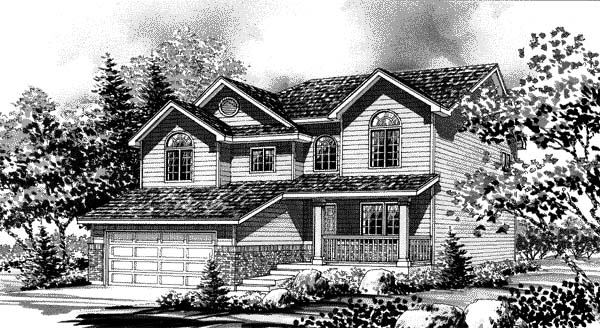 Country House Plan 44801 with 3 Beds, 3 Baths, 2 Car Garage Elevation