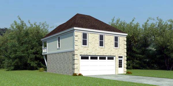 Garage Plan 44901 Elevation