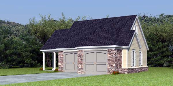 2 Car Garage Apartment Plan 44905 Front Elevation