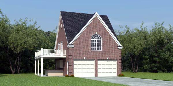 Garage Plan 44908 Elevation
