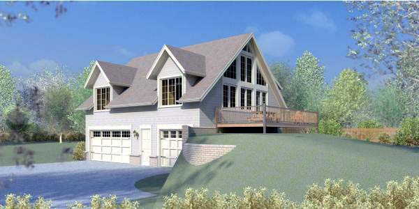 House Plan 44912 Elevation
