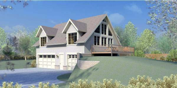 House Plan 44913 Elevation