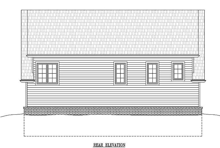 House Plan 44913 Rear Elevation