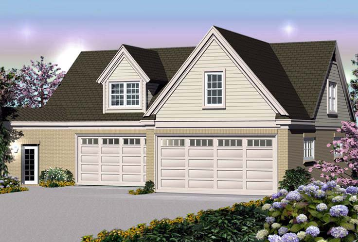 Traditional Garage Plan 44914 Elevation