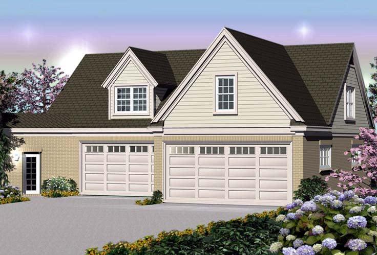Traditional Garage Plan 44914 Elevation