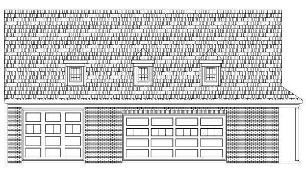 4 Car Garage Plan 44918 Elevation