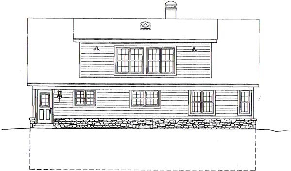 Country House Plan 44919 Rear Elevation