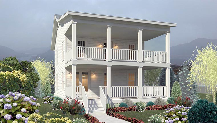 Elevation of Traditional   House Plan 44920