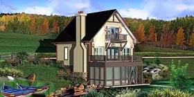 House Plan 44923 Elevation