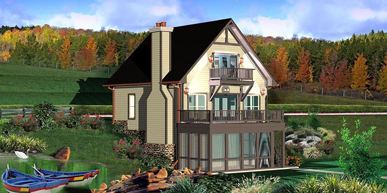 House Plan 44923 Elevation