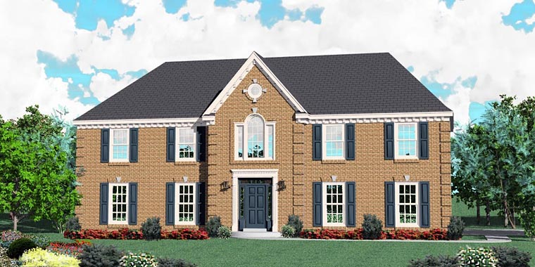Traditional House Plan 44926 Elevation