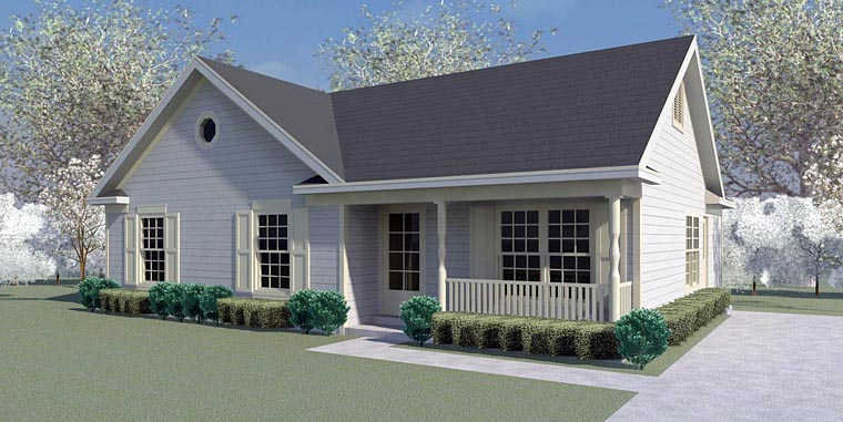 Country House Plan 44927 with 3 Beds, 2 Baths Elevation