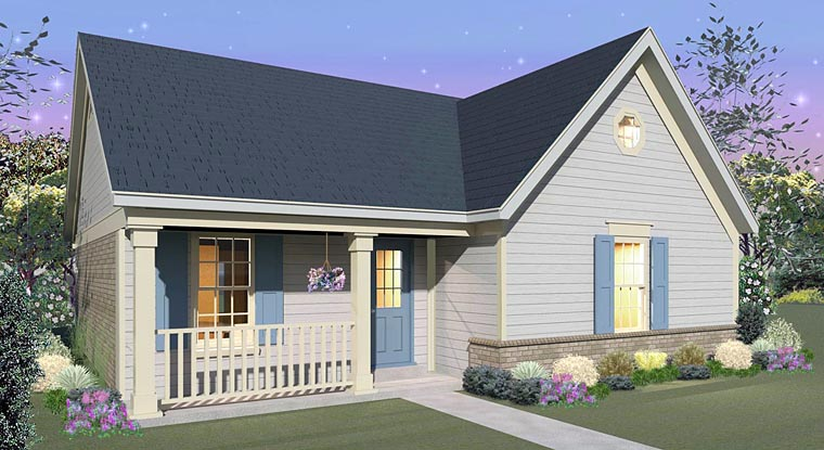 Country House Plan 44928 with 3 Beds, 2 Baths Front Elevation