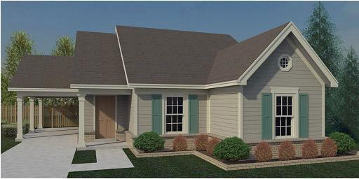 House Plan 44929 | Traditional Style Plan with 1067 Sq Ft, 3 Bedrooms, 2 Bathrooms, 1 Car Garage Elevation