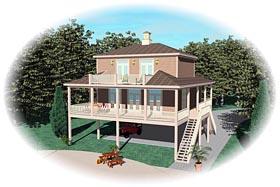Farmhouse House Plan 44931 Elevation