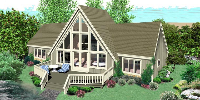 Traditional House Plan 44932 Rear Elevation